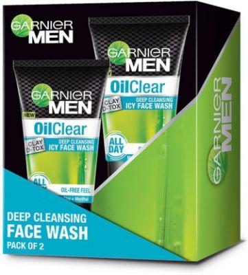 Garnier Oil Clear Deep Cleansing Icy Facewash, Pack of 2 Face Wash  (200 g)