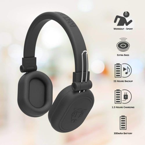 Ant Audio Treble 1200 HD Premium Bluetooth Headset with Mic (Over the Ear)