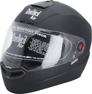 Steelbird Air SBA-1 Matte Full Face Helmet (Black, M)