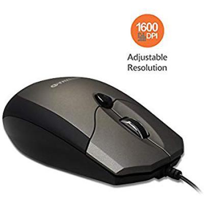 Amkette Weego PRO Optical Mouse Ergonomic Design Adjustable 1600 DPI Resolution