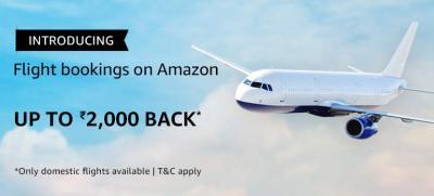Flights on Amazon: Up to 2000 Off