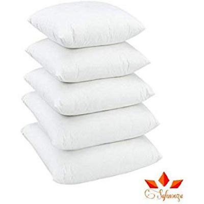 Cozyland 5 Piece Polyester Cushion Cover Set - 12 x 12, White