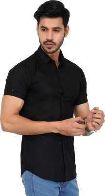Men Solid Casual Spread Shirt