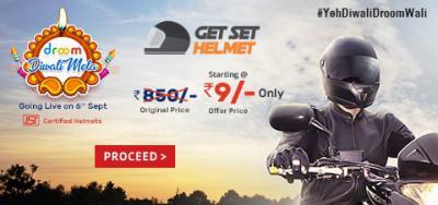 Get Set Helmet Sale: Buy Helmet At Just Rs.9