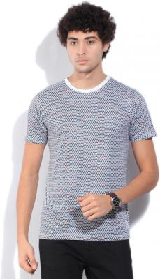 French Connection Printed Men Round Neck Grey T-Shirt