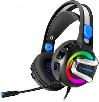 Cosmic Byte G3300 Rings 7 RGB Color Colors Wired Headset with Mic  (Blue, Over the Ear)