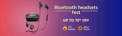 Bluetooth headsets fest up to 70% Off