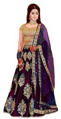 PMD Fashion Embroidered, Embellished Semi Stitched Lehenga, Choli and Dupatta Set