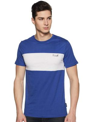 French Connection Men's Solid Slim fit T-Shirt