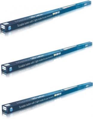 Philips AstraLine Scene Switch Plus 4ft Straight Linear LED Tube Light  (White, Pack of 3)
