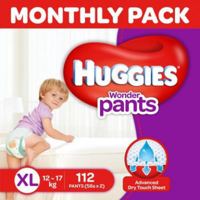 Huggies Wonder Pants - XL  (112 Pieces)