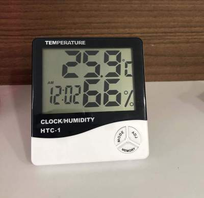 HTC-1 Humidity Time Display Meter with Alarm Clock, Wall Mount or Table Top