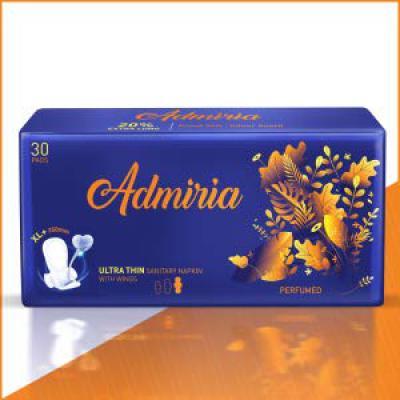 Admiria Ultra Thin Cloud Soft Sanitary Pad/Napkins - Extra Large (XL+) (Pack of 30)