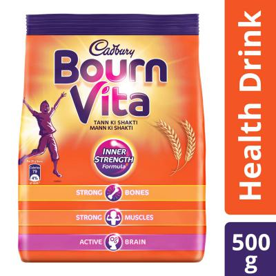 Cadbury Bournvita Health Drink, 500 gm refill pack