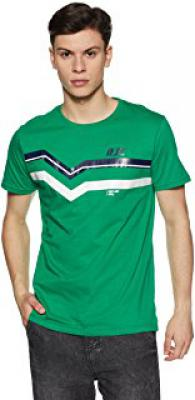 RJCo Men's Solid Regular T shirt