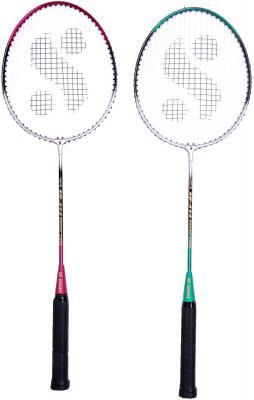Silver Sb-414 Gutted Badminton Rackets(Multicolor)