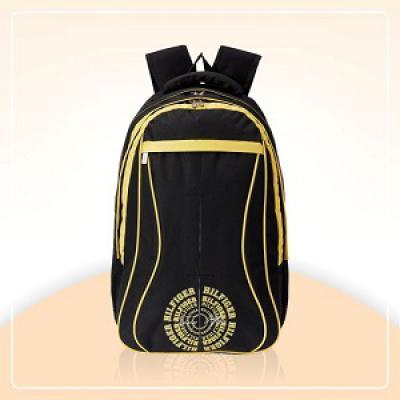 Tommy Hilfiger Black Casual Backpack (TH/BIK01LAP)
