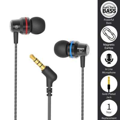 boAt Bassheads 106 Wired Earphones with HD Sound, 10 mm