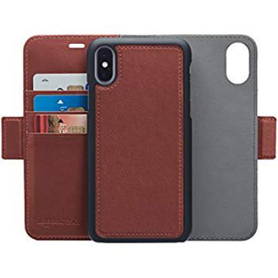 AmazonBasics iPhone X PU Leather Wallet Detachable Mobile Cover