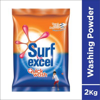 Surf Excel Quick Wash Detergent Powder, 2 kg