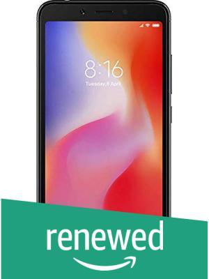 (Renewed) Mi Redmi 6 (Black, 3GB RAM, 64GB Storage)