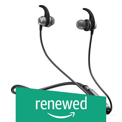 (Renewed) Boult Audio ProBass SpireX Neckband in-Ear Wireless Bluetooth Earphones with Mic IPX5 Sweatproof Deep Bass Hea