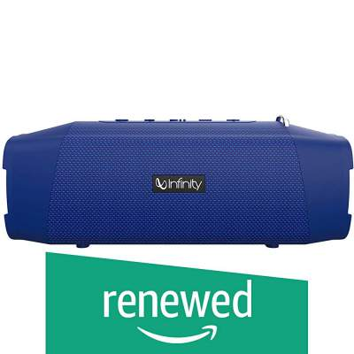 (Renewed) Infinity (JBL) Fuze 700 Dual EQ Deep Bass IPX7 Waterproof Wireless Bluetooth 5.0 Portable Stereo Speaker with Built-in Powerbank and 10 Hours Playtime (Mystic Blue)