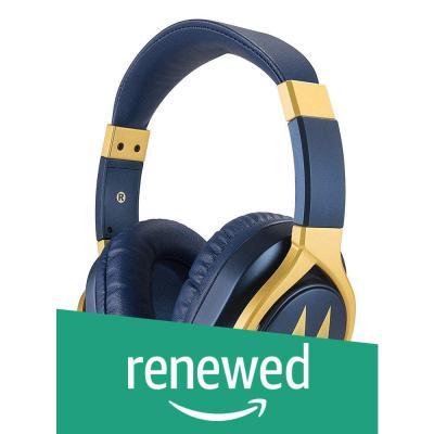 (Renewed) Motorola Pulse 3 Max Wired Headphones (Blue)