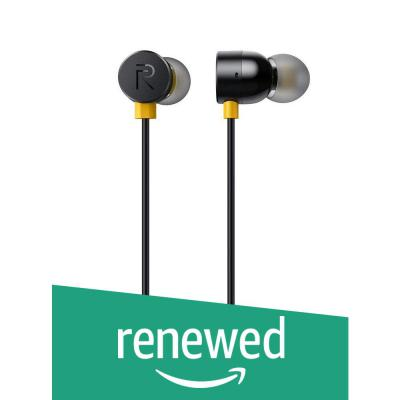 (Renewed) Realme Earbuds with Mic (Black)