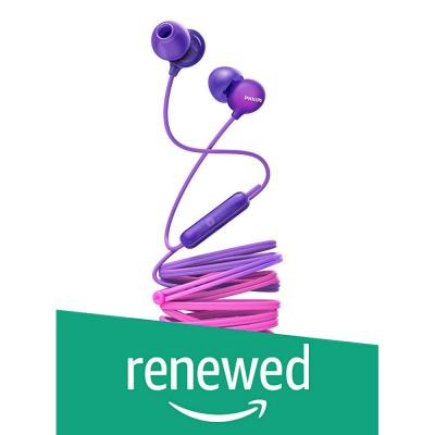 (Renewed) Philips SHE2405PP/00 Upbeat inear Earphone with Mic (Purple)