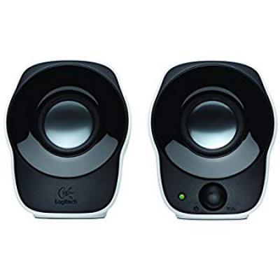 (Renewed) Logitech Z120 Stereo Speaker (Black and White)