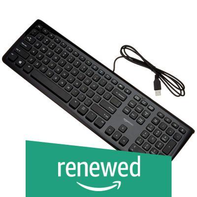 (Renewed) AmazonBasics Wired Keyboard (Black)