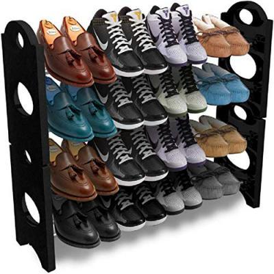 Pureus Foldable Shoe Rack with 4 Shelves