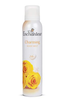 Enchanteur Charming Body Mist (Deodorant Spray) for Women, 150ml