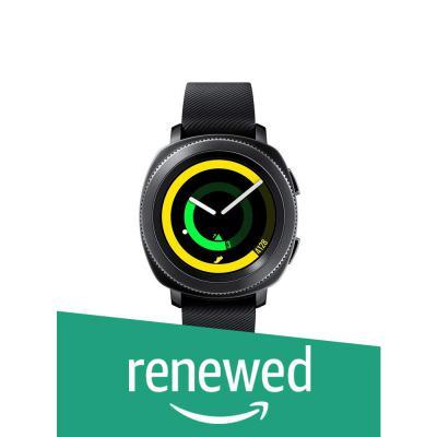 (Renewed) Samsung Gear Sport Smartwatch (Black)