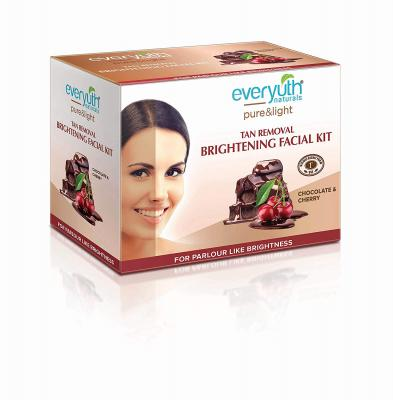 Everyuth Naturals Tan Removal Brightening Facial Kit, 45 g +10 ml