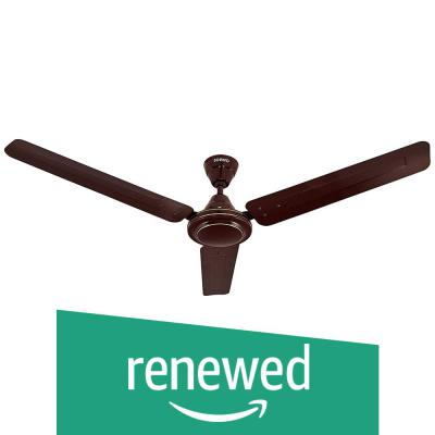 (Renewed) Amazon Brand - Solimo Swirl 1200mm Ceiling Fan (Brown)