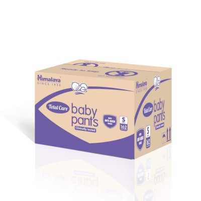 Himalaya Total Care Baby Pants Diapers Monthly Mega Box, Small (162 Count)