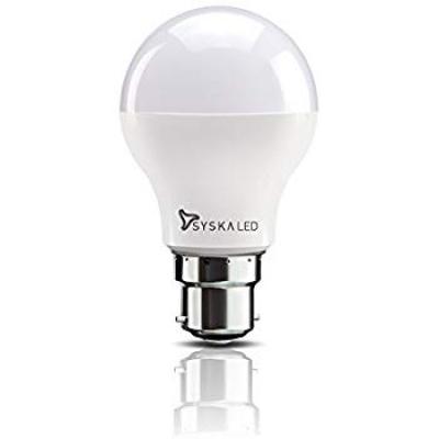 Syska B22 9-Watt LED Bulb (Cool Day Light)