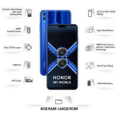 Honor 8X (6GB RAM, 128GB Storage)