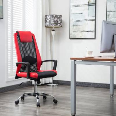 Flipkart Perfect Homes Rex Fabric Office Executive Chair (Red)