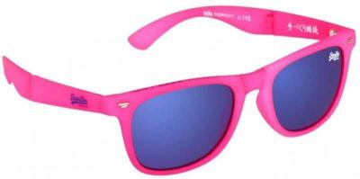 Superdry Mirrored, UV Protection Rectangular Sunglasses (59)  (Blue)