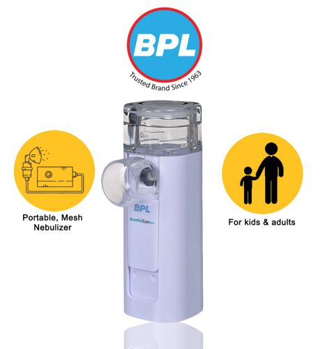 BPL Medical Technologies Breath Ezee N10 Vibrating Mesh Nebulizer (White)