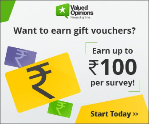 Valued Opinions: Earn up to Rs.100 per Survey...