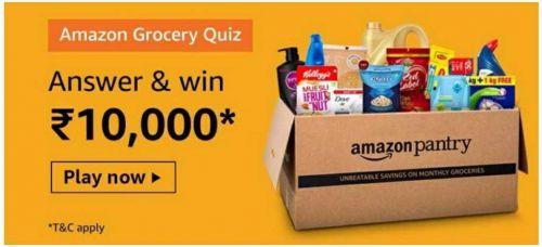 Amazon Grocery Quiz Answers: Win Rs.10,000 Amazon Pay Balance