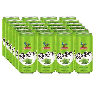 Kingfisher Radler - Non Alcoholic Malt Drink - Mint & Lime, 24 x 300 ml