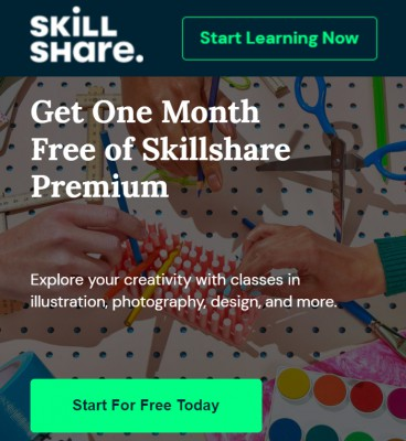 Free Skillshare Premium for 2 Month: Get unlimited access to over 22,000 classes