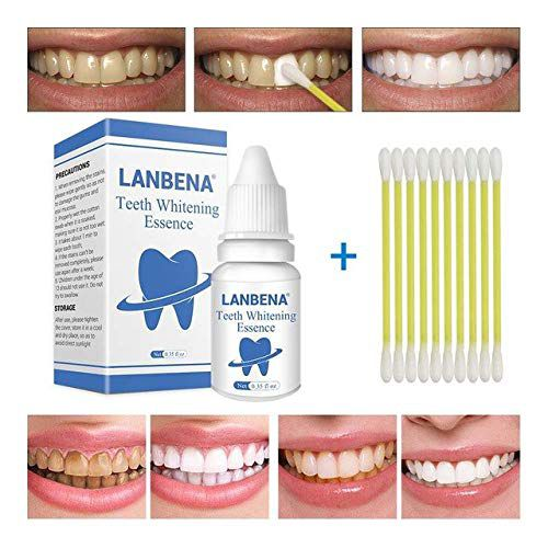 Shoppy Shop LANBENA Cleaning Serum Removes Plaque Stains Teeth Whitening Essence Powder Oral Hygiene Bleaching Dental Tools Toothpaste