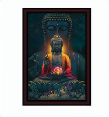 SAF Acrylic Glass Large Royal Cherry Premium Framed Buddha
