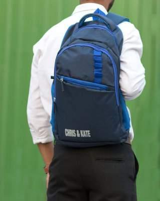 Buy Navy Blue Backpacks for Men by Chris & Kate